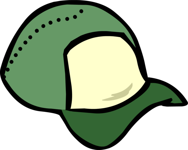 File:Green Ball Cap clothing icon ID 405.png