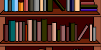 Bookshelves Background