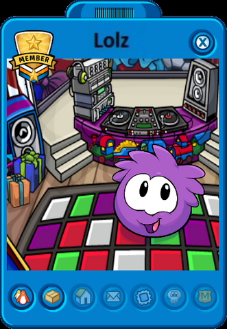 File:Cadence's Puffle (Lolz) Playercard for Holiday Party 2012 (Edited).png