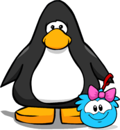 Pink Bow (Puffle Hat) on Player Card