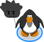 Black Puffle Balloon in-game