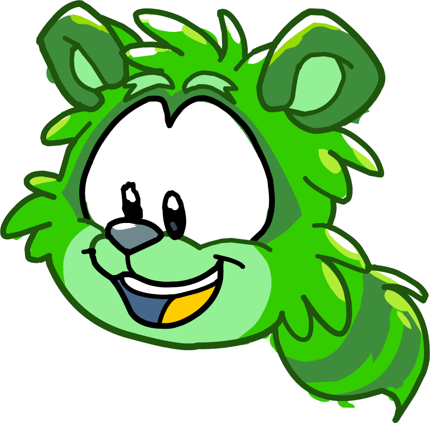 Image - Puffle Party 2015 Comic Green Raccoon Puffle.png