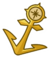 Gold Anchor Pin