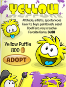 Yellow Puffle In Catalog