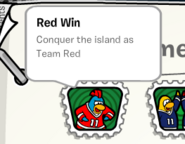 Red win stamp book