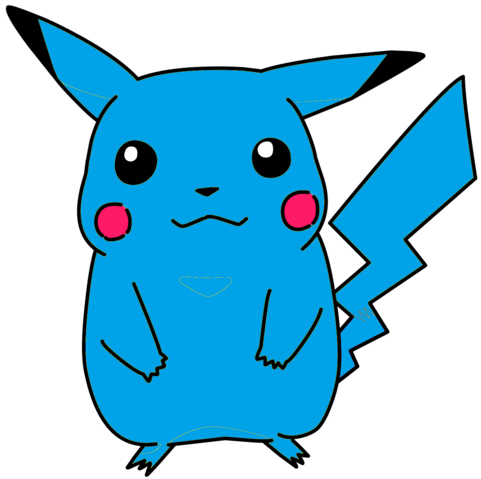 File:Blue Pikachu.png