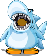 Sharks' Mascot Costume on Player Card