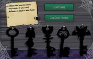 Spooky Keys interface