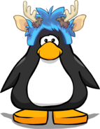 Deer Puffle Cap on a Player Card