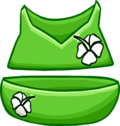 Green Flower Bikini clothing icon ID 4097