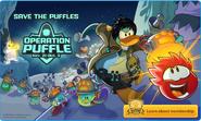 Save the Puffles Logoff screen