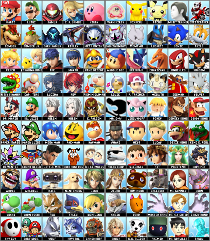 File:SSB5 Custom Character Roster.png