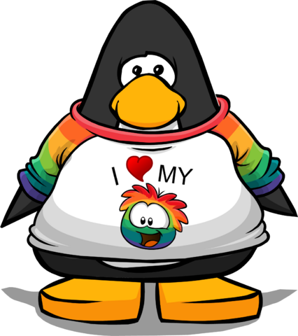 File:I Heart My Rainbow Puffle T-Shirt from a Player Card.png