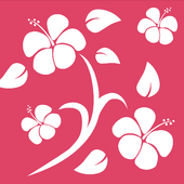 Pink Hawaiian Background photo