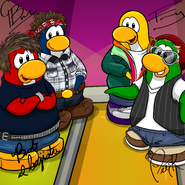 Penguin Band Background photo es