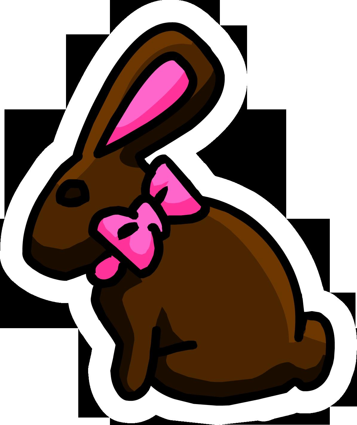 chocolate bunny pin club penguin wiki fandom powered by wikia