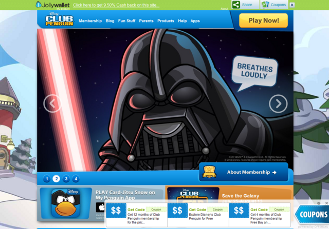 File:Advertisments for discounts on Club Penguin home..png