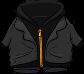 Black Zip Hoodie clothing icon ID 4755