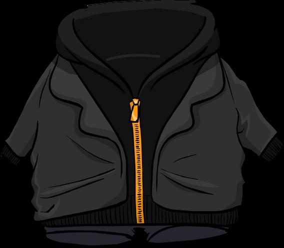 File:Black Zip Hoodie clothing icon ID 4755.png
