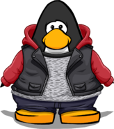 Fall Leather Jacket from a Player Card