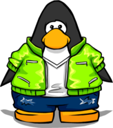 Green Scene Jacket from a Player Card