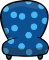 Custom Furniture (Blue Chair with Polka Dots)