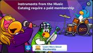 Music Catalog Membership Error