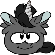 Black Unicorn Puffle sprite
