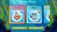 Finding Dory Party app interface page 1
