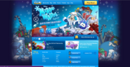 Club Penguin homepage for Merry Walrus party