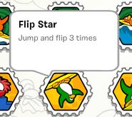 Flip star stamp book