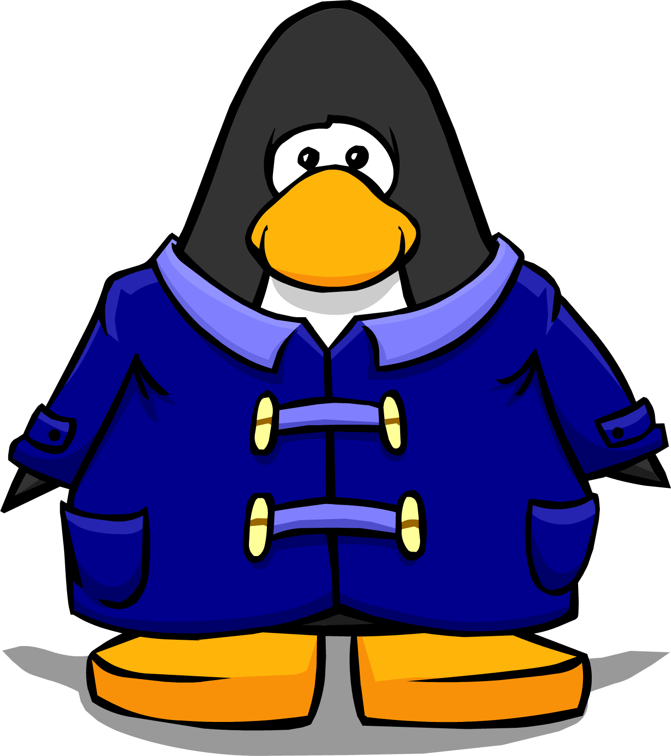Image - Blue Duffle Coat from a Player Card.PNG | Club Penguin
