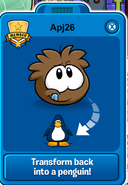 Transform from Puffle to Penguin