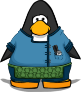 Puffle Groomer Outfit from a Player Card