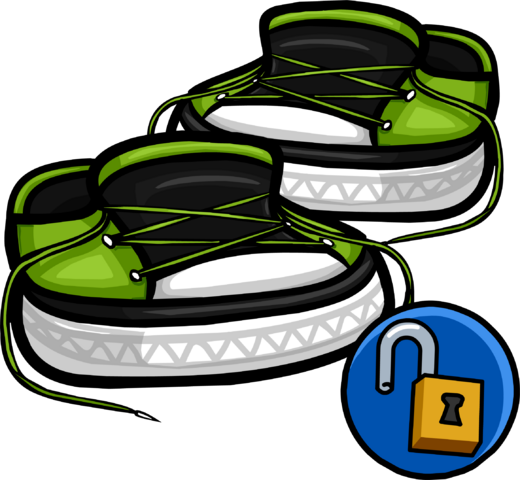 File:GreenUntiedSneakers.png