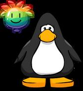 Rainbow Puffle Balloon on a Player Card