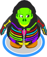 Neon Skeleton Hoodie ingame