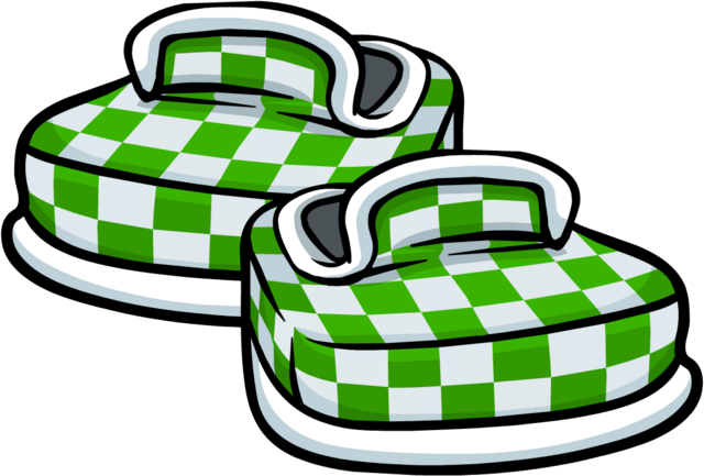 File:Green Checkered Shoes.png