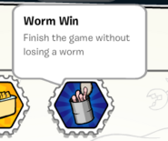 Worm win stamp book
