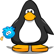 Blue Puffle Stuffie from a Player Card