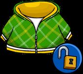 Green Crosshatch Hoodie unlockable
