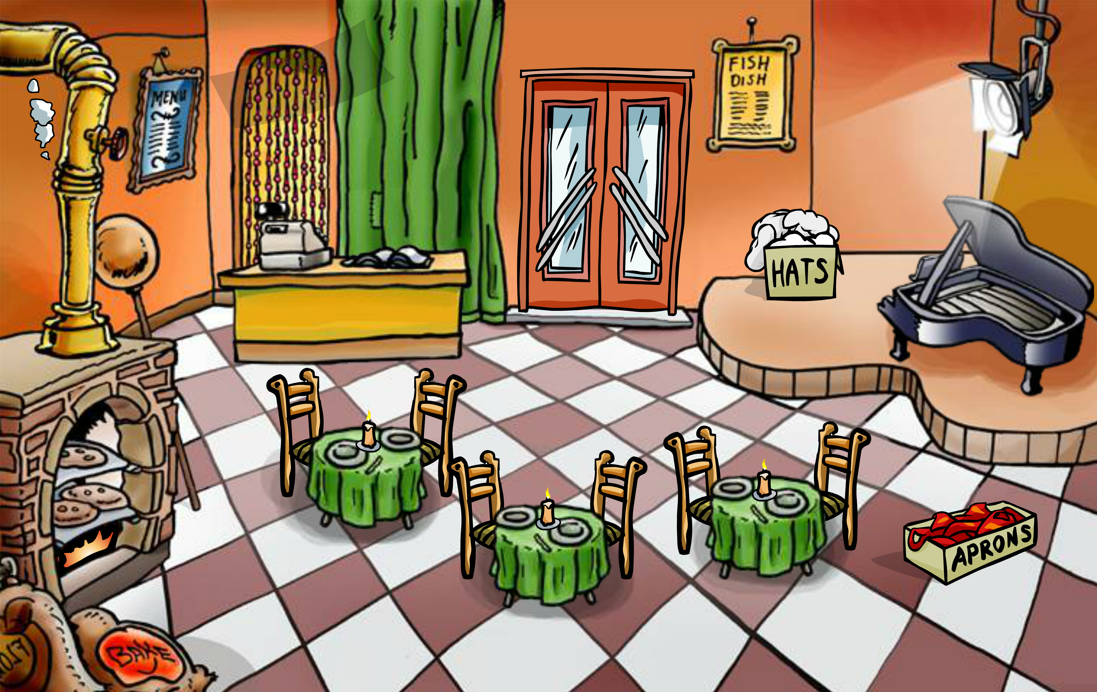 Pizza Parlor Opening Party | Club Penguin Music Wiki ...