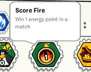 Score fire stamp book