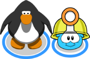 Mining Helmet (Puffle Hat) In-Game
