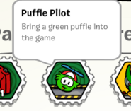 Puffle pilot stamp book