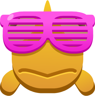 Emoji Fish Wearing Shades