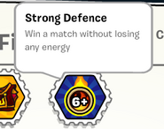 Strong defence stamp book