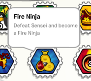 Fire ninja stamp book