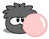 Black Puffle Blowing Gum