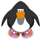 Purple Flower Sandals in-game